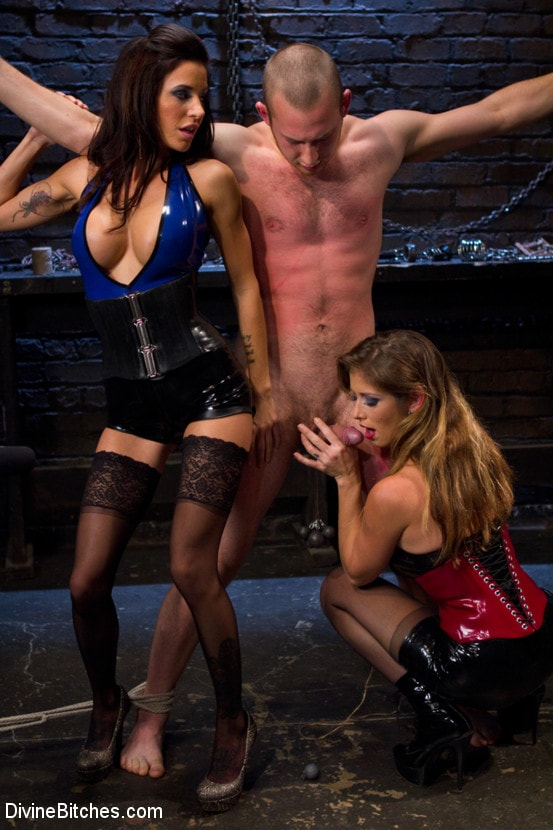 Kink '18 year old slaveboy chewed up and spit out by two HOT femdom nymph Bitches!' starring Gia DiMarco (photo 2)