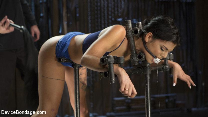 Kink '19 Year Old Brazilian in Devastating Bondage' starring Gina Valentina (Photo 5)