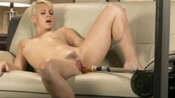 Helena Locke - Sexy Blonde Cougar Takes Our Machines for a Spin