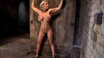 Holly Halston in 'Smoking hot blond MILF with HUGE tits Suffers brutal crotch rope, pulled to the breaking point.'