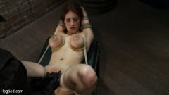 Iona Grace - 18 years old with huge natural tits is bound, made to cum Big tits brutally tied and punished. (Thumb 10)