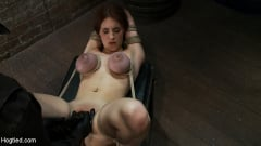 Iona Grace - 18 years old with huge natural tits is bound, made to cum Big tits brutally tied and punished. (Thumb 19)