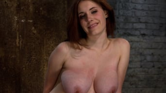 Iona Grace in '19 yr Old with Huge Tits Suffers in a Catigory5 Suspension, Cums while Upside Down and Helpless'