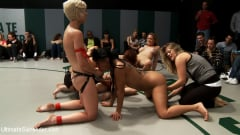 Iona Grace - 6 girl massive fuck orgy in front of the live audience. Losers getting fucked in to the mat! (Thumb 15)