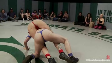 Iona Grace - RD 1: Team Blue VS. Team Red! Brutal unscripted tag team wrestling! Sexual wrestling at it's best