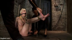 Isis Love - April's Live Show 1 of 4 Cherry suffers a Category 5 suspension! All tying done live and on scree (Thumb 18)