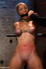 Isis Love - Audrey had her breast bound and huge mouth properly gagged. Nipples clamped and made to cum, and cum! (Thumb 05)