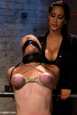 Isis Love - Audrey had her breast bound and huge mouth properly gagged. Nipples clamped and made to cum, and cum! (Thumb 06)