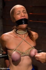 Isis Love - Audrey had her breast bound and huge mouth properly gagged. Nipples clamped and made to cum, and cum! (Thumb 12)