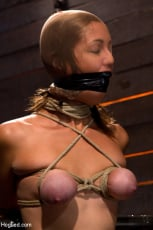 Isis Love - Audrey had her breast bound and huge mouth properly gagged. Nipples clamped and made to cum, and cum! (Thumb 13)