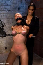 Isis Love - Audrey had her breast bound and huge mouth properly gagged. Nipples clamped and made to cum, and cum! (Thumb 15)