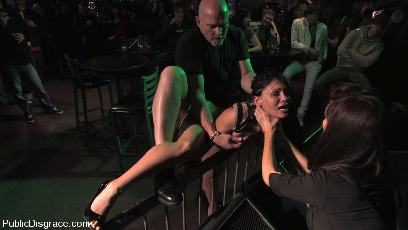 Kink 'Beautiful brunnette, Jade Indica, is bound and fucked in a crowded bar' starring Jade Indica (Photo 8)