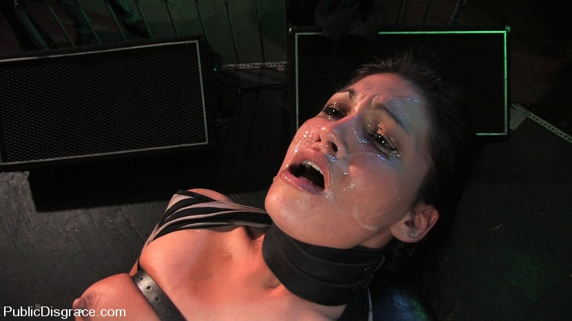 Kink 'Beautiful brunnette, Jade Indica, is bound and fucked in a crowded bar' starring Jade Indica (Photo 10)