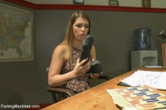 Jenna Ashley - Athletic Babe Fucks Herself in the Coach's office (Thumb 02)