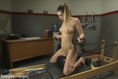 Jenna Ashley - Athletic Babe Fucks Herself in the Coach's office (Thumb 03)