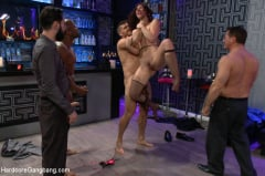 Jodi Taylor - Naughty Waitress Takes her Payment in Cock in an Interracial Gangbang! (Thumb 06)