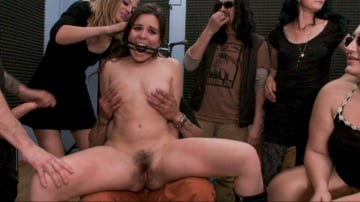 Juliette March - Juliette March is Disgusting in this Brutal All-Anal Public Scene!