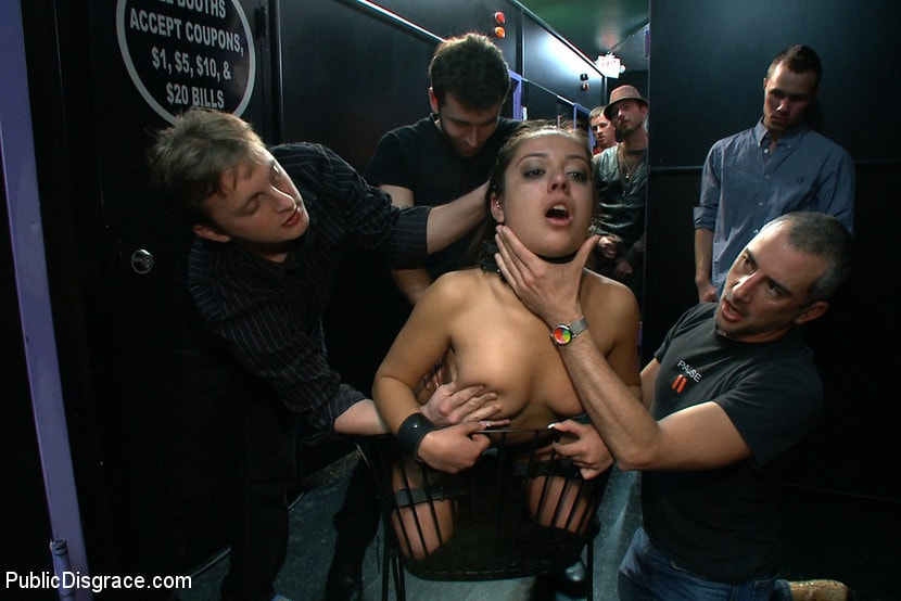 Kink 'Latina Cutie With a Big Round Ass gets Dominated and Fucked in Public by Strangers' starring Jynx Maze (Photo 7)