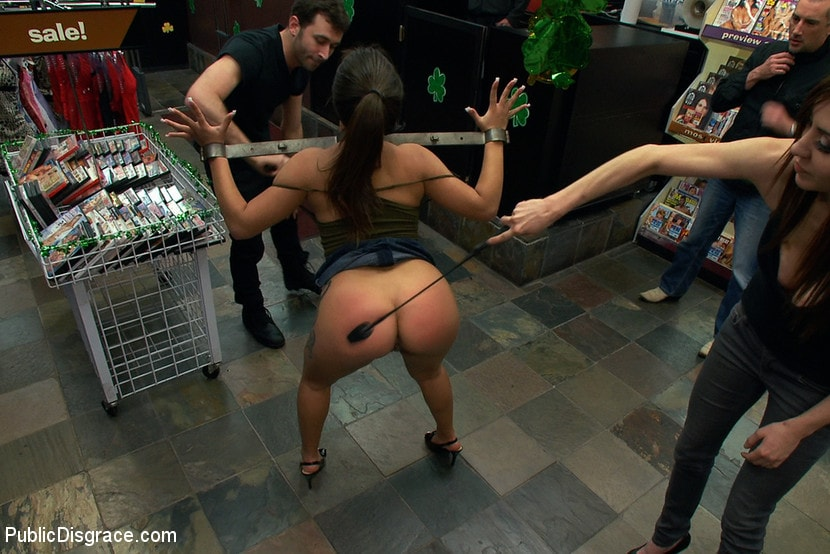Kink 'Latina Cutie With a Big Round Ass gets Dominated and Fucked in Public by Strangers' starring Jynx Maze (Photo 12)