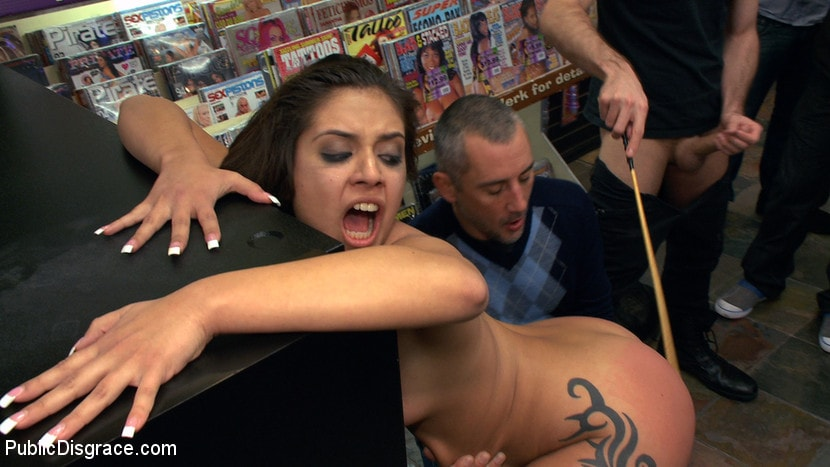 Kink 'Latina Cutie With a Big Round Ass gets Dominated and Fucked in Public by Strangers' starring Jynx Maze (Photo 18)