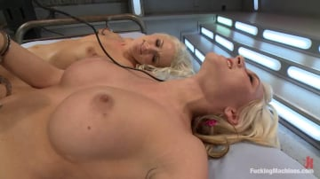 Katie Summers - Blonds Twins in Bondage MACHINE FUCKED with a Guest Fisting by Princess Donna