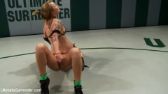 Kaylee Hilton - 2 blonds battle to see who gets 2 fuck the other. Brutal scissor submissions, headlocks and grapevines (Thumb 10)