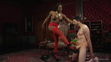 Kelli Provocateur - Hot Muscular Domme Annihilates Wimpy Man Servant!