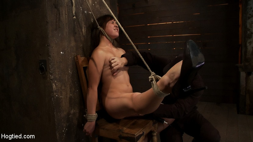 Kink '18yr old is bound to the chair Neck rope limits her breathing, this makes her cum hard and often.' starring Kiki Koi (Photo 3)