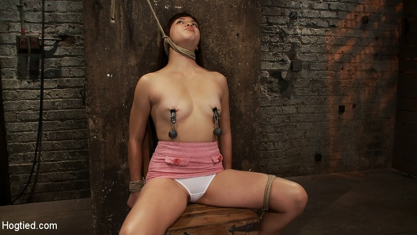 Kink '18yr old is bound to the chair Neck rope limits her breathing, this makes her cum hard and often.' starring Kiki Koi (Photo 11)