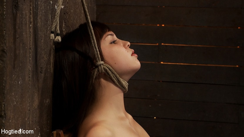 Kink '18yr old is bound to the chair Neck rope limits her breathing, this makes her cum hard and often.' starring Kiki Koi (Photo 12)