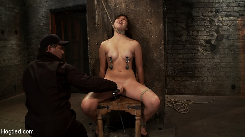 Kink '18yr old is bound to the chair Neck rope limits her breathing, this makes her cum hard and often.' starring Kiki Koi (Photo 14)