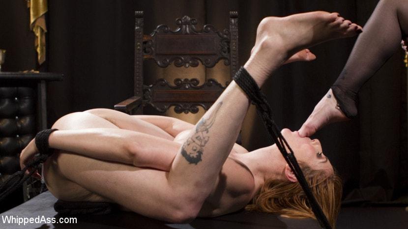 Kink 'Bella Rossi Breaks in Redhead Lesbian Anal Slave' starring Lauren Phillips (Photo 12)