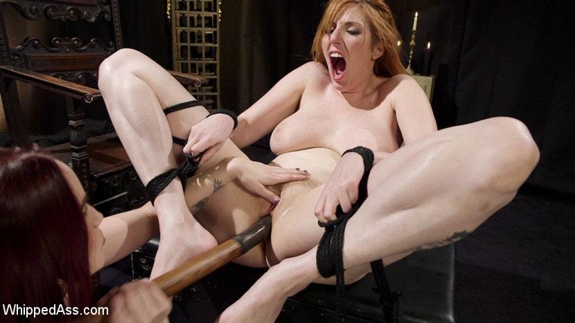Kink 'Bella Rossi Breaks in Redhead Lesbian Anal Slave' starring Lauren Phillips (Photo 15)