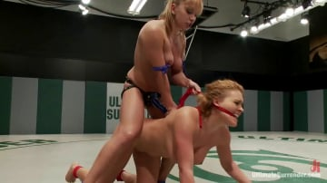 Lea Lexis - Lea Lexis, blonde romanian rookie takes on big titted Krissy Lynn!