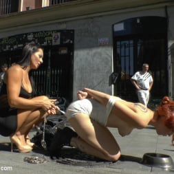 Lilyan Red in 'Kink' Redheaded slut beautifully disgraced on streets of Madrid (Thumbnail 17)