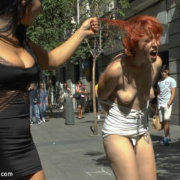 Lilyan Red in 'Kink' Redheaded slut beautifully disgraced on streets of Madrid (Thumbnail 19)