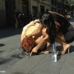 Lilyan Red in 'Kink' Redheaded slut beautifully disgraced on streets of Madrid (Thumbnail 20)