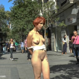 Lilyan Red in 'Kink' Redheaded slut beautifully disgraced on streets of Madrid (Thumbnail 21)