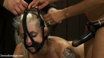 Lorelei Lee in 'Hot Blond BDSM Slave get bound in hard metal Brutally fucked by James Dean and Isis Love'
