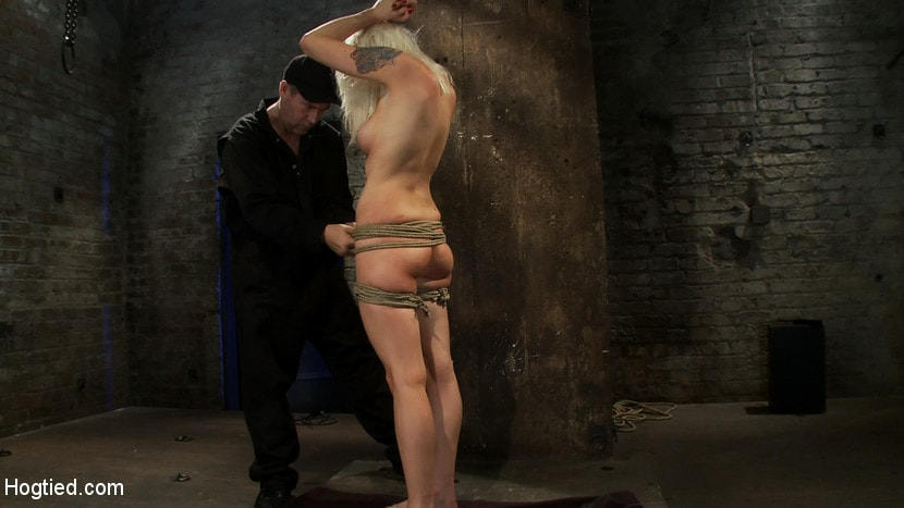 Kink 'Lorelei is bound on screen, brutally fucked by Isis Love in a back breaking Category 5 suspension.' starring Lorelei Lee (Photo 1)
