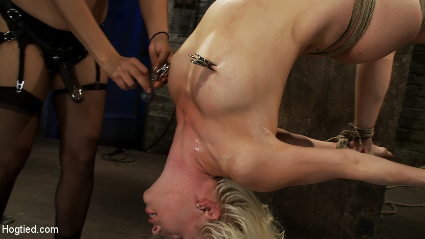 Kink 'Lorelei is bound on screen, brutally fucked by Isis Love in a back breaking Category 5 suspension.' starring Lorelei Lee (Photo 11)