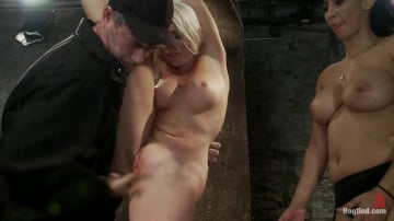 Lorelei Lee - We yank a leg up, cane her then make her cum until she's totally physically and emotionally wrecked