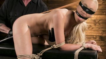 Lyra Law - Sexy Blonde Mistres Submits to Rope Bondage and Suffering