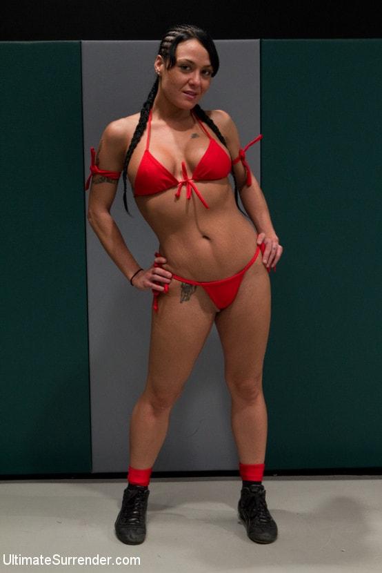Kink 'Blond Amazon destroy and humiliates Sexy Hawaiian on the mat Finger fucking during the wrestling' starring Mahina Zaltana (Photo 10)
