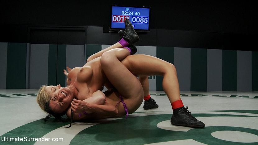 Kink 'Blond Amazon destroy and humiliates Sexy Hawaiian on the mat Finger fucking during the wrestling' starring Mahina Zaltana (Photo 13)