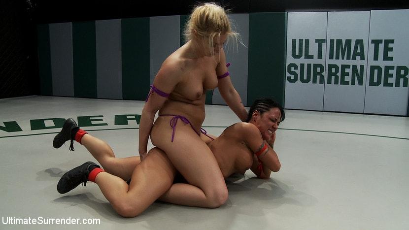 Kink 'Blond Amazon destroy and humiliates Sexy Hawaiian on the mat Finger fucking during the wrestling' starring Mahina Zaltana (Photo 18)