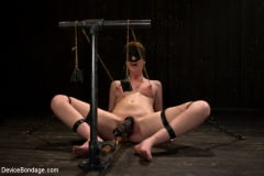 Marie McCray - Red Hair Fair Skin - finger fucked, machine fucked, extreme nipple play, hot wax, hard caning. (Thumb 02)