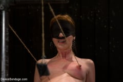 Marie McCray - Red Hair Fair Skin - finger fucked, machine fucked, extreme nipple play, hot wax, hard caning. (Thumb 04)