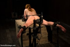 Marie McCray - Red Hair Fair Skin - finger fucked, machine fucked, extreme nipple play, hot wax, hard caning. (Thumb 08)
