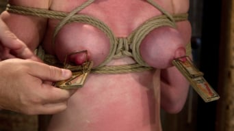 Marie McCray in 'Sexy red head with HUGE lactating nipples severely bound in a reverse prayer Made to cum!'